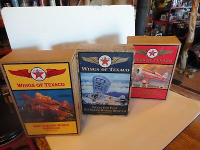 Lot of 3 Wings of Texaco Diecast Metal Coin Banks