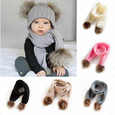 Kids Warm Winter Scarf Baby Toddler Girls Boys Knit Knitted Scarves Neckerchief
