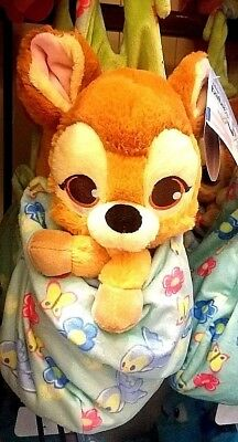 Disney Parks Baby Babies Bambi in a Blanket Pouch Plush New with Tags