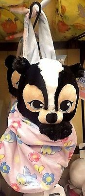 Disney Parks Baby Babies Flower in a Blanket Pouch Plush New Skunk Bambi