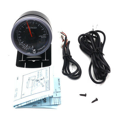 """New 2.5"""" 60mm Dual Color LED Car Air to Fuel Ratio Gauge Monitor with Pod Cover"""