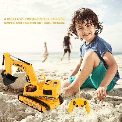 5Ch Remote Control Excavator Simulation Tractors Digger with Flash Crawler OE