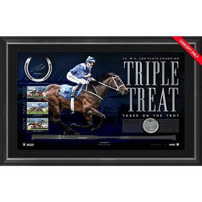 WINX SIGNED 'TRIPLE TREAT' 2017 Cox Plate Champion Official Frame Horse Racing