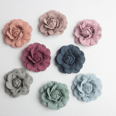 10pcs Artificial Suede Rose Flower Heads for DIY Hair Accessories Jewelry Making