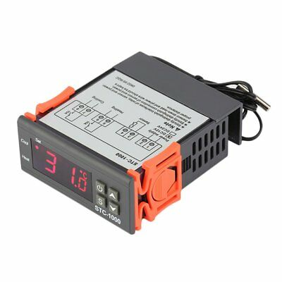 Two Relay Output Digital Temperature Controller Thermostat with Sensor YW