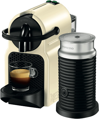 NEW Nespresso EN80CWAE DeLonghi Inissia Capsule Coffee Machine - Cream