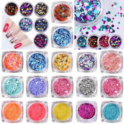 3D Bijoux Ongle Déco Glitter Strass Cristal Fimo Gel UV Tips Nail Art Manucure