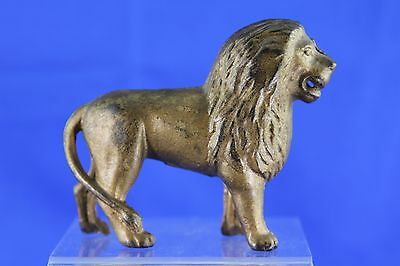 Antique Cast Iron Lion Still Bank With Original Gold Finish
