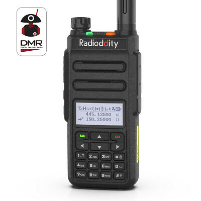 DE Radioddity GD-77 DMR Tier2 VHF UHF Digital Hand-funkgerät Walkie-Talkie Kable