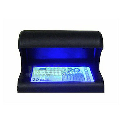 Rilevatore banconote false UV euro money detector controlla verifica soldi carte