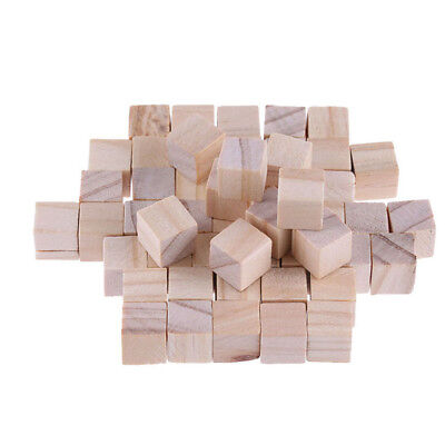 10/20/50Pcs Square Wooden Bead Unfinished Natural Handmade Handcrafts Baby Toys