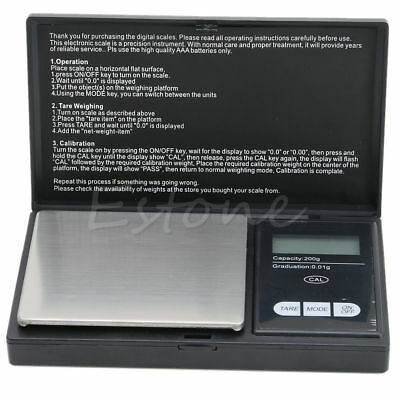 Mini Pocket Digital Scale 0.01 x 200g Coin Gold Jewelry Weigh Balance LCD