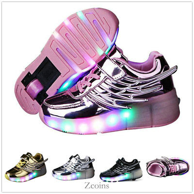 New Adult Girls Boys LED Light Wheel Roller Skates Shoes Unisex Youth Sneakers