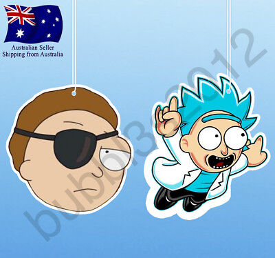 Rick and Morty Evil Morty Tiny Rick Air Fresheners air freshener Australia funny