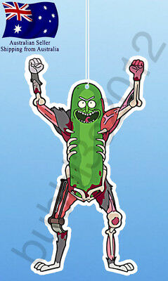 2x Rick and Morty Pickle Rick Fight Rats Car Air Freshener Freshener funny