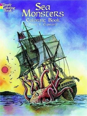Coloring Books For Adult Sea Monsters Pattern Painting Art Design Stress Relax