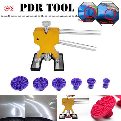 PDR Tools Golden Dent Lifter Kit Purple Glue Tabs Car Paintless Hail Dent Repair