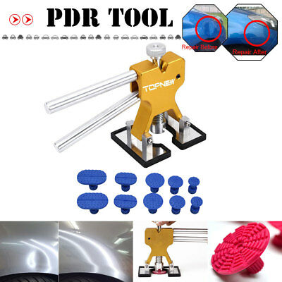 PDR Tools Dent Lifter Kit 10XBlue Puller Tabs Paintless Dent Repair Hail Removal