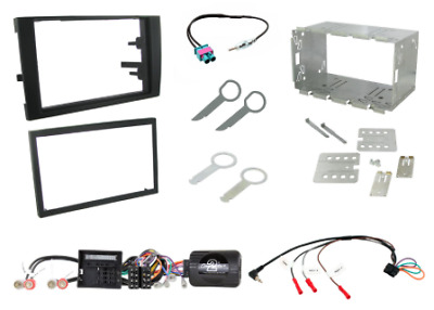 Audi A4 B7 2007 - 2009 Double Din Fitting Kit BLACK Connects2 CTKAU04