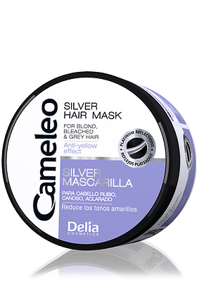Delia  Cameleo Silver Hair Mask anti-yellow effect to Blond, Lightened Hair