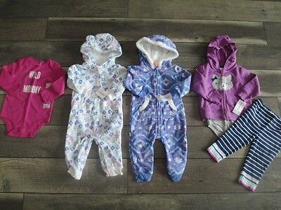 6 piece LOT of baby girl fall/winter clothes size 9 months NWT