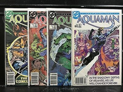 COMPLETE Aquaman #1 2 3 4 (1986 DC) Combined Shipping Deal! D3