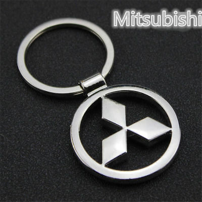 Mitsubishi Car Hollow Titanium Key Chain Car Keychain Keyfob Metal Keyring