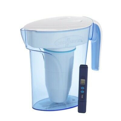 Zero Water 7 Cup Water Filter Table Jug Pitcher Dispenser TDSMeter 1.7L ZP-007RP