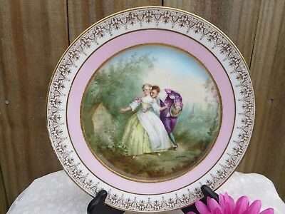 Chateau Des Tuileries Romance Plate, Handed Painted French Plate