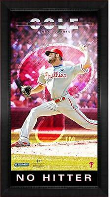 Framed Cole Hamels 'No Hitter 6/25/15 Player Profile' 10x20 Collage