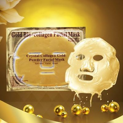 24K Gold Bio Collagen Premium Crystal Face Mask Eye Anti Ageing Moisturising