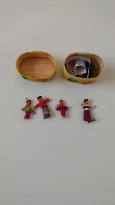 Guatemalan worry dolls in box all profits to send kids to school!