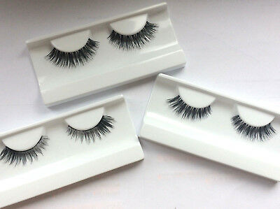 3 Paar Echthaar-Wimpern Künstliche Wimpern False Lashes Human Hair Full Strip