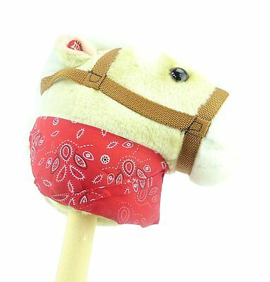 b94e026d6ea Cream Hobby Horse with Bandana and Sound - Horse on a Stick - Kids Toys (