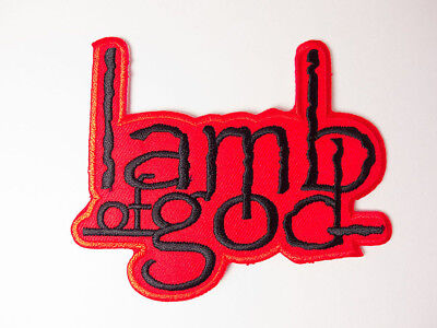 Lamb of God Red Iron on Embroidered Patches Band Music
