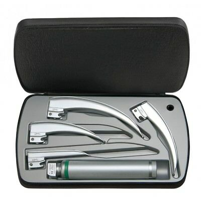HEINE Classic+ F.O. Laryngoscope Set with LED Rechargeable Handle, table charger