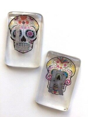 Clear Day of the  Dead Radiography X-Ray Markers  - choose your own initials