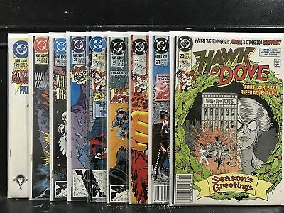 Lot of 9 Hawk and Dove #20 21 22 23 24 25 26 27 28 (1989 Series DC) Shipping Dea