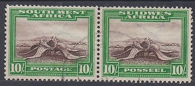South West Africa 1931 Desert Plant 10/- Pair Used