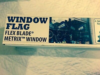 NEW Metrix Window Flag Flex Blade  Above All Advertising SEALED~JUST AS PICTURED