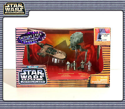 STAR WARS MM Action Fleet: Exclusive 2-Pack with AT-ST & Landspeeder (OVP)