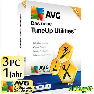 TuneUp Utilities 2018 3 PC 1J Vollversion AVG PC TuneUp NEU Tune Up UE 2017 DE