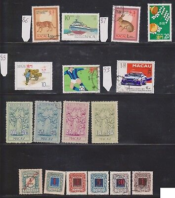 (K46-13) 1890s-90s Macau/Portugal company 17 stamps valued to 1.50PTCS (D)