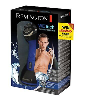 Remington AQ7 Wet Tech Wet and Dry Rotary Electric Shaver - Black/Blue