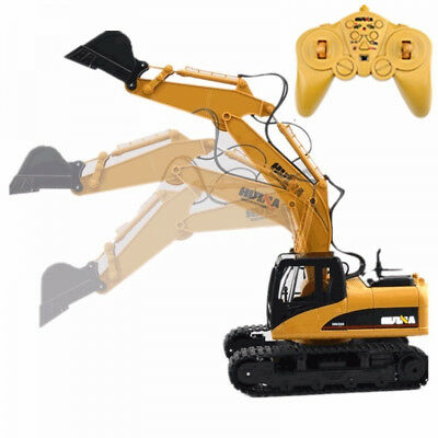 RC Toy 15-Channel 2.4G 1/12 Remote Control Metal Excavator Car