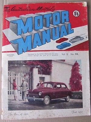 MOTOR MANUAL January, 1971, AUSTIN X6, XY FALCON, RENAULT 12, HONDA 1300, GTHO