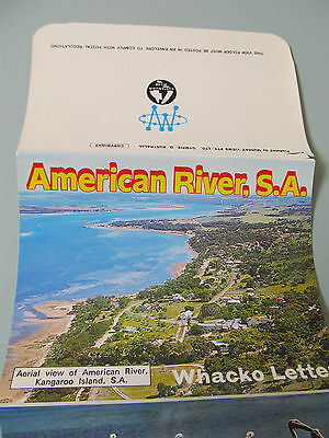Vintage Murray Views Foldout Colour View Folder, American River, Sth Australia
