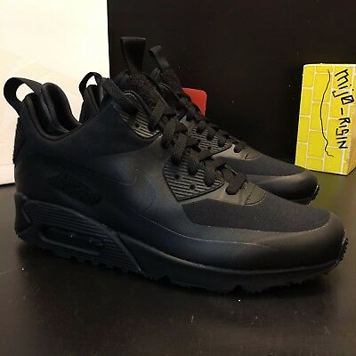 38fcbc0c89 NEW Nikelab Air Max 90 sneakerboot SP 704570 001 Triple Black Men Size 9  PATCHES