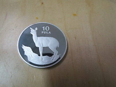 1978 Botswana Silver Proof 10 Pula Klipspringer .925 only 3,989 minted
