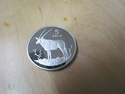 1978 Botswana Silver Proof 5 Pula Klipspringer .925 only 4,172 minted